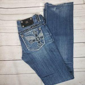 Miss Me Jeans Double Button Closure Detail Sz 26